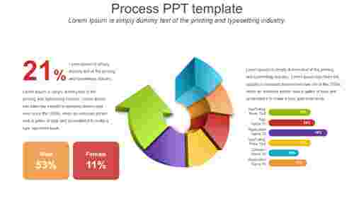 Arrow process PPT template